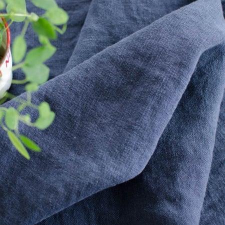 Toile de Lin lourde Clotaire Bleu Nuit